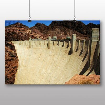 Big Box Art Hoover Dam Nevada No.1 Photographic Print Wrapped on Canvas