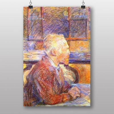 Big Box Art Portrait of Vincent Van Gogh by Henri de Toulouse-Lautrec Art Print