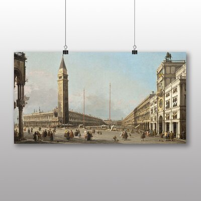 Big Box Art 'Piaza San Marco' by Giovanni Canaletto Art Print