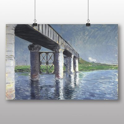 Big Box Art 'The Seine and the Railroad Bridge' by Gustave Caillebotte Art Print