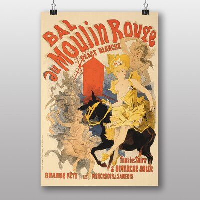 Big Box Art 'Artwork No.10' by Jules Cheret Vintage Advertisement