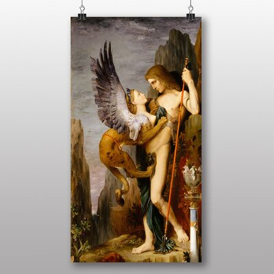 Big Box Art 'Oedipus and the Sphynx' by Gustave Moreau Art Print