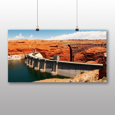 Big Box Art Glen Canyon Dam Photographic Print Wrapped on Canvas