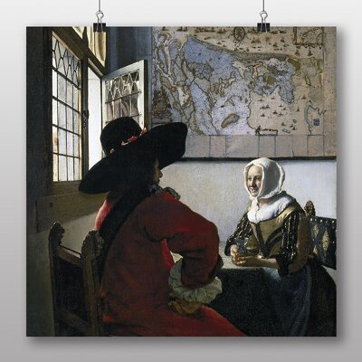 Big Box Art 'Officer and Laughing Girl' by Johannes Vermeer Art Print