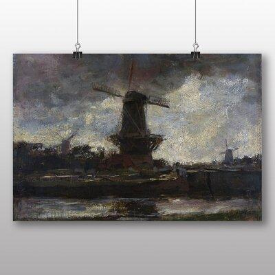 Big Box Art 'Three Windmills No.2' by Jacob Maris Art Print