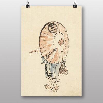 "Big Box Art ""Girl with Parasol Japanese Oriental Art"" by Hokusai Art Print"