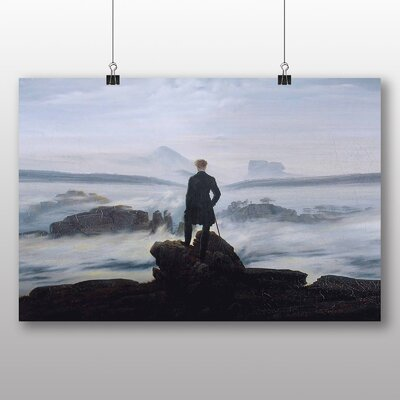 Big Box Art 'The Wanderer above the Sea of Fog' by Caspar David Friedrich Art Print