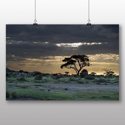 Big Box Art Kenya Landscape Africa No.3 Photographic Print on Canvas