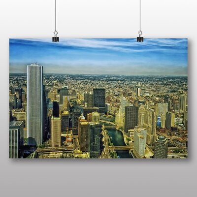 Big Box Art Illinois Chicago Skyline USA No.2 Photographic Print on Canvas