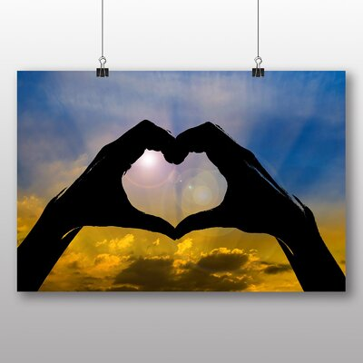 Big Box Art Heart and Clouds Photographic Print