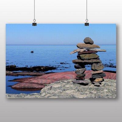 Big Box Art Inukshuk Canada Photographic Print on Canvas