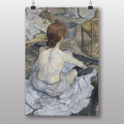 "Big Box Art ""Seated Girl"" by Henri de Toulouse-Lautrec Art Print"