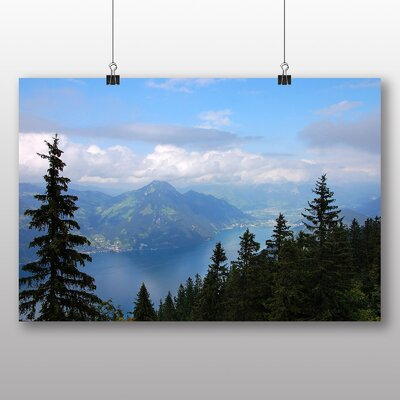 Big Box Art Klewenalp Mountain Switzerland Photographic Print on Canvas