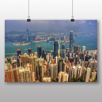 Big Box Art Hong Kong City Skyline China No.2 Photographic Print Wrapped on Canvas