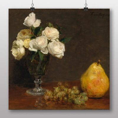 Big Box Art 'Still Life Fruit with Flowers No.3' by Henri Fantin-Latour Art Print