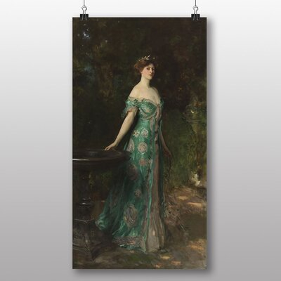 Big Box Art Portrait of Millicent Leveson' by John Singer Sargent Art Print