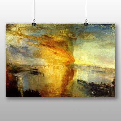 Big Box Art 'The Burning of the House of Lords' by Joseph Mallord William Turner Art Print
