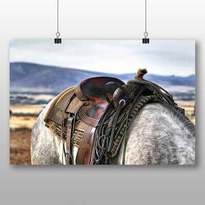Big Box Art Horse Back Saddle Photographic Print Wrapped on Canvas