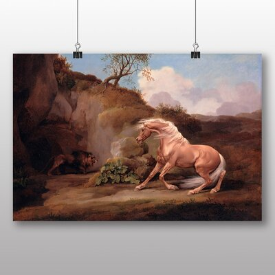 Big Box Art 'Horse Frightened by a Lion No.2' by George Stubbs Art Print