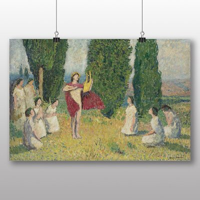 "Big Box Art ""Orpheus Playing the Lyre"" by Henri Martin Art Print on Canvas"