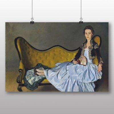 Big Box Art Female Chaise Lounge' by Ignacio Zuloaga Art Print