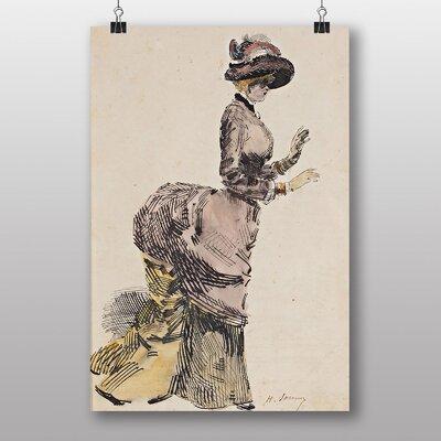 Big Box Art Lady in Fine Dress by Henry Somm Art Print