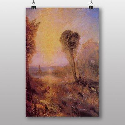"Big Box Art ""Merkur and Argus"" by Joseph Mallord William Turner Art Print"