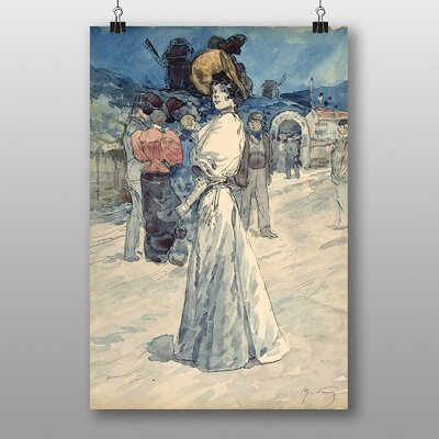 "Big Box Art ""Outside the Moulin Galette"" by Henry Somm Art Print"