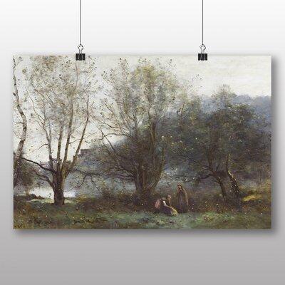 Big Box Art 'Two Woman' by Jean Baptiste Camille Corot Art Print