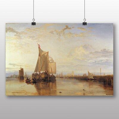 Big Box Art 'The Dort Packet Boat' by Joseph Mallord William Turner Art Print