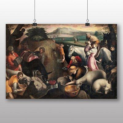 Big Box Art 'Moses Pours Water' by Leandro Jacopo Bassano Art Print