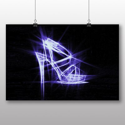Big Box Art High Heel Shoes Abstract No.2 Graphic Art on Canvas