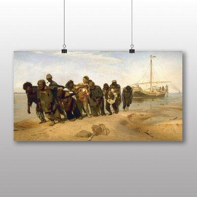 Big Box Art 'Barge Haulers on the Volga' by Ilya Repin Art Print