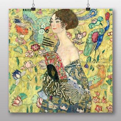 Big Box Art 'Lady with a Fan' by Gustav Klimt Art Print