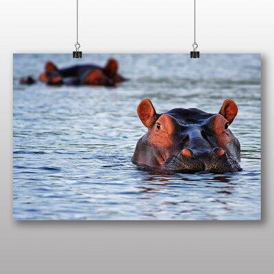 Big Box Art Hippo Hippopotamus Photographic Print