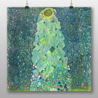 Big Box Art 'The Sunflower' by Gustav Klimt Art Print