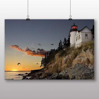 Big Box Art Lighthouse Bar Harbour Maine USA Photographic Print Wrapped on Canvas