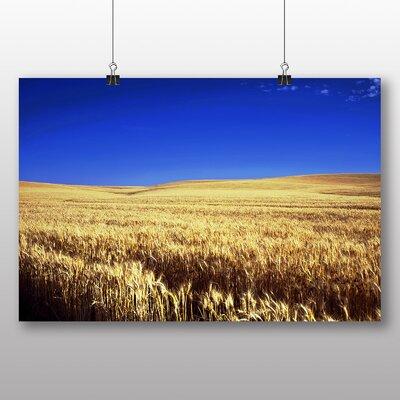 Big Box Art Kansas Wheat Field USA Photographic Print
