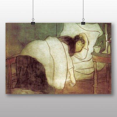 Big Box Art Woman in Bed' by Jozsef Rippl-Ronai Art Print