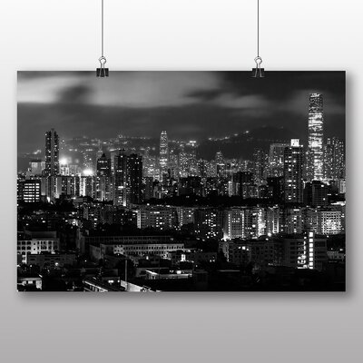 Big Box Art Hong Kong City Skyline China No.5 Photographic Print on Canvas