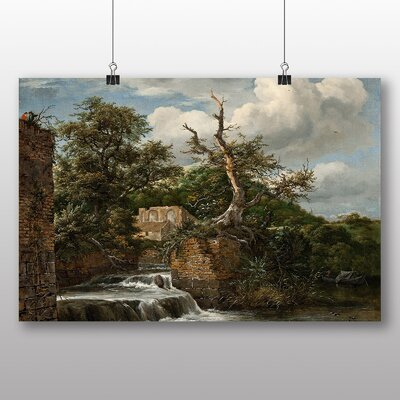 Big Box Art 'Landscape with a MIll and Ruins' by Jacob Ruisdael Art Print