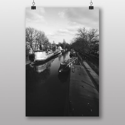 Big Box Art London Canal Barge Photographic Print