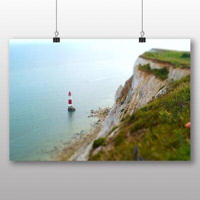 Big Box Art Lighthouse and Coast Photographic Print on Canvas