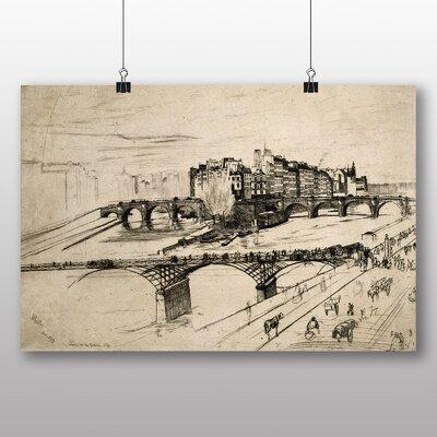 Big Box Art 'Paris Sketch' by James McNeill Whistler Art Print