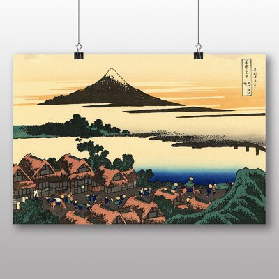 "Big Box Art ""Japanese Oriental Dawn at Isawa"" by Hokusai Art Print"