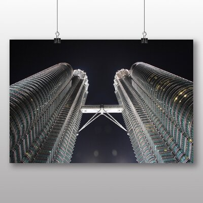 Big Box Art Kuala Lumpur Malaysia Petronas Towers No.2 Photographic Print Wrapped on Canvas
