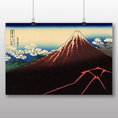 "Big Box Art ""Japanese Oriental Lightnings Below the Summit"" by Hokusai Art Print"