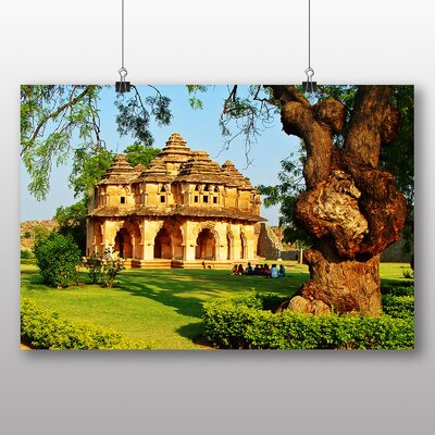 Big Box Art Lotus Mahal Hampi India Photographic Print Wrapped on Canvas