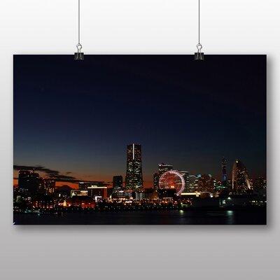 Big Box Art Japan Yokohama Skyline City Photographic Print