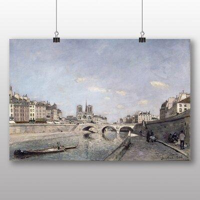 Big Box Art 'The Seine and Notre Dame in Paris' by Johan Jongkind Art Print